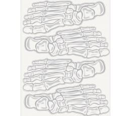 """Dekorācijas-uzlīmes """"Skeleta pēdas"""""""