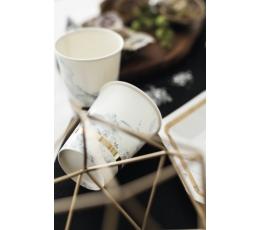 """Glāzītes """"Marmors ar zelta maliņu"""" (8 gab/ 250 ml)"""