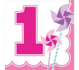 """Salvetes """"Sārtas vējdzirnavas. 1-ā dzimšanas diena"""" (16 gab)"""