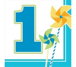 """Salvetes """"Zilas vējdzirnavas. 1-ā dzimšanas diena"""" (16 gab)"""