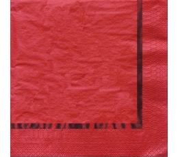Salvetes, sarkanas spīdīgas (16 gab)