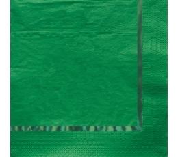 Salvetes, zaļas spīdīgas (16 gab)