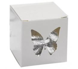 """Dāvanu kastīte ar lodziņu """"Tauriņi"""""""
