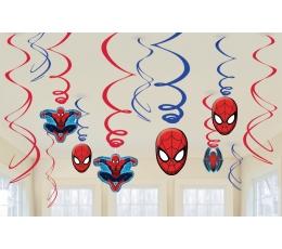 """Подвесные декорации """"Человек паук"""" (12 шт)"""
