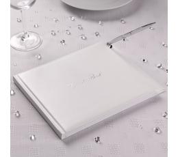 Novēlējumu grāmata- viesu grāmata, balta ar pildspalvu