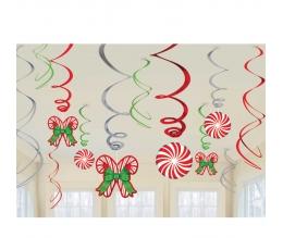 """Karināmas dekorācijas """"Ziemassvētku saldumi"""" (12 gab)"""