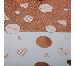 Kāzu konfetti, rozā zelts (14 g)