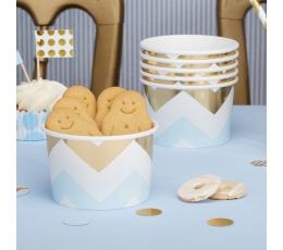 Чашечки для закусок, синие с золотым (8 шт)