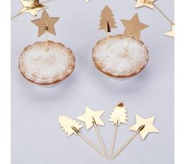 """Irbulīši dekorācijas """"Zelta Ziemassvētki"""" (20 gab)"""