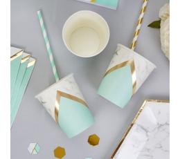 Glāzītes, piparmētru krāsas marmors (8 gab/ 200 ml)