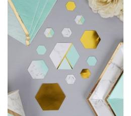 Papīra konfettī, piparmētru krāsas marmors (100 gab)