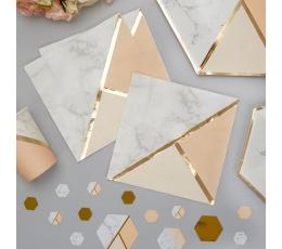 Salvetes, persiku krāsas marmors (16 gab)