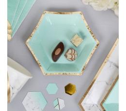 Šķīviši, piparmētru krāsā (8 gab/ 12 cm)