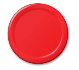 Šķīvīši, sarkani (24 gab/ 18cm)