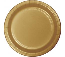 Šķīvīši, zelta krāsā (24 gab/22 cm)