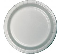 Тарелочки , серебряный (24 шт/17 см)