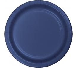 Šķīvīši, tumši zili (24 gab/17 cm)