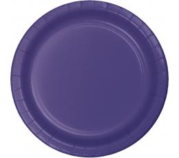 Тарелочки , фиолетовые (24 шт/17 см)