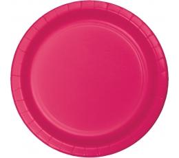 Šķīvīši, spilgti rozā (24 gab/17 cm)