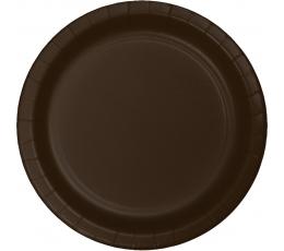 Тарелочки , коричневые  (24 шт/17 см)
