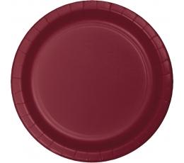 Šķīvīši, burgundieša krāsā (24 gab/17 cm)