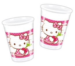 "Glāzītes ""Hello Kitty"" (8 gab/ 200 ml)"