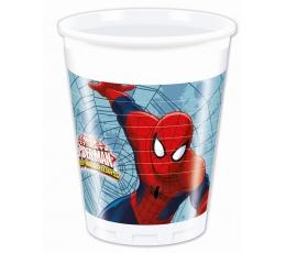 """Plastmasas glāzītes """"Zirnekļcilvēks"""" (8 gab/200 ml)"""