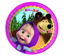 "Šķīvīši ""Maša un lācis"" (8 gab/20 cm)"