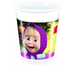 """Plastmasas glāzītes """"Maša un lācis"""" (8 gab/200 ml)"""