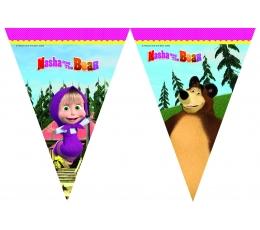 """Karodziņu virtene """"Maša un lācis""""  (9 karodziņi)"""