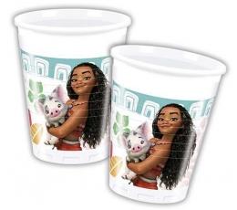 "Plastmasas glāzītes ""Moana"" (8 gab / 200 ml)"