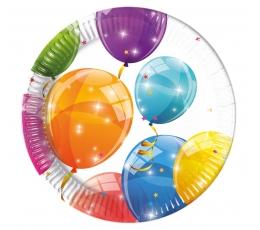 """Šķīvīši """"Balonu Fiesta"""" (8 gab/ 20 cm)"""