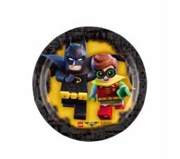 """Šķīvīši """"Lego Betmens"""" (8 gab/ 18 cm)"""