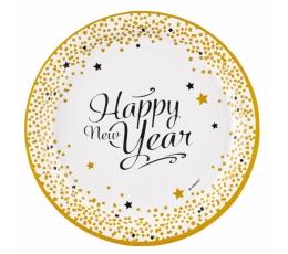 """Šķīvīšī """"Laimīgu Jauno gadu"""" (8 gab/ 22 cm)"""