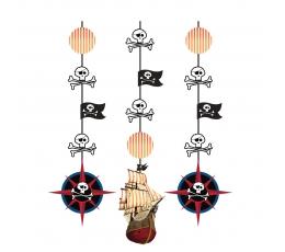 """Karināmās dekorācijas """"Pirātu dārgumi"""" (3 gab)"""
