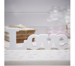 """Деревянная надпись """"LOVE"""", белая"""