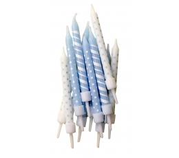 Svecīšu komplekts, zils (12 gab)