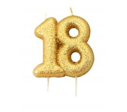 """Svecīte """"18"""", Zelta"""