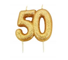 """Svecīte """"50"""" zelta"""