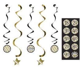 Karināmas dekorācijas, ar uzlīmēm (5 gab)