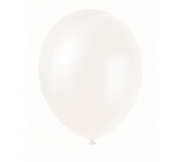 Balons, perlamuta balts (30 cm)