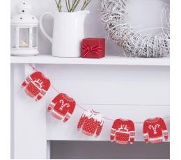 """Koka virtene """"Ziemassvētku džemperi"""" (1,5 m)"""