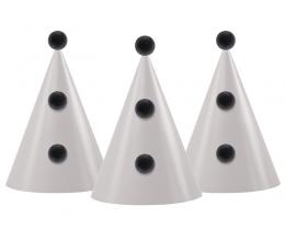 Cepurītes, ar melniem bumbuļiem (3 gab)