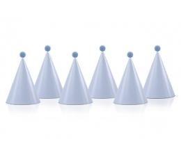 Cepurītes ar bumbuļiem, zilas(6 gab)