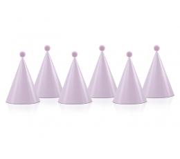 Cepurītes ar bumbuļiem, rozā (6 gab)