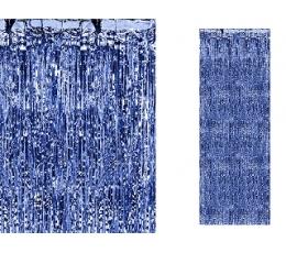 Zili, folija aizkari (90 x 250 cm)