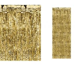 Zeltīti folija aizkari (90 x 250 cm)