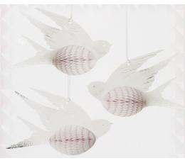"""Karināmās dekorācijas """"Mīlas baloži"""" (3 gab)"""