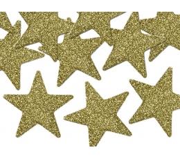 """Dekorācijas """"Zelta zvaigznītes"""" (8 gab/ 5 cm)"""
