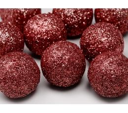 Burbuļi-dekorācijas, sarkani (9 gab/3 cm)